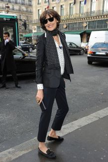 PARIS, FRANCE - MARCH 03: Ines De La Fresange is seen at the Stella McCartney show as part of the Paris Fashion Week Womenswear Fall/Winter 2014-2015 on March 3, 2014 in Paris, France. (Photo by Jacopo Raule/GC Images)